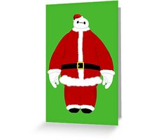 Santa Baymax Greeting Card