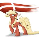 Danish Bronies with flag by Shila