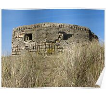 Pillbox on the Dunes Poster