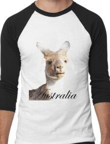 Kangaroo ~ Australia Men's Baseball ¾ T-Shirt
