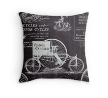 old advertisement chalkboard paris vintage bike Throw Pillow