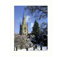 Snow Scene, Warwick, England  Art Print
