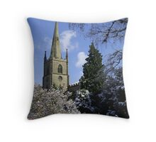 Snow Scene, Warwick, England  Throw Pillow