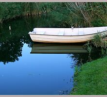 tranquil boat by LisaBeth