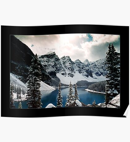 Moraine Lake, Valley of the Ten Peaks, Banff National Park, Canada (Bordered) Poster
