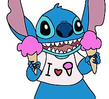 Stitch loves ice cream by LikeYou