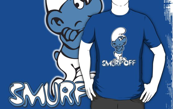 Really Grouchy Smurf by G. Patrick Colvin