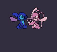 Cute Stitch and Angel Womens Fitted T-Shirt