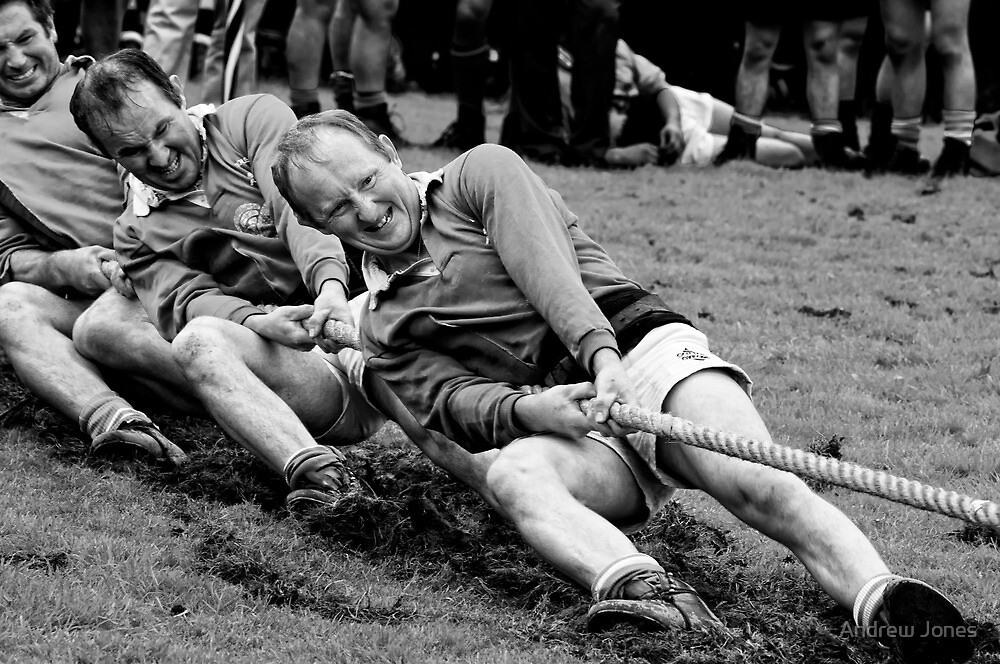 digging in, Irish national tug of war championship, New Ross County Wexford, Ireland by Andrew Jones