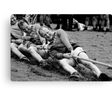 digging in, Irish national tug of war championship, New Ross County Wexford, Ireland Canvas Print