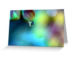 Rainbow Web Greeting Card