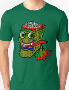 Green monster with top of head missing Unisex T-Shirt