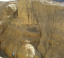 A daunting section - shoreline sediments in Tibet by Adam Switzer