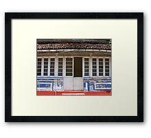 Its all a facade Framed Print