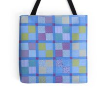 Little Old Lady Shelling Peas Quilt Tote Bag