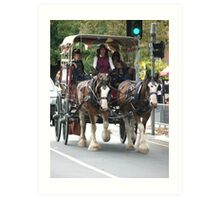 Clydesdale Horse & Buggy Art Print