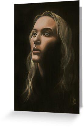 """""""Kate"""" Portrait in Oils by John D Moulton"""