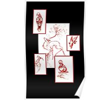 Red Sketches Poster
