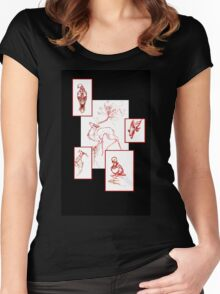 Red Sketches Women's Fitted Scoop T-Shirt