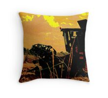 Abstract Harvest Throw Pillow