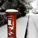 Post box in the snow by Jon Tait