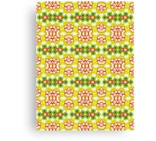 Red, Yellow and Green Abstract Design Pattern Canvas Print