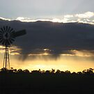 Windmill sillhouette by Julie Sleeman