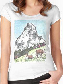 Matterhorn Zermatt, Switzerland Women's Fitted Scoop T-Shirt
