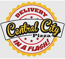Central City Pizza - Delivery in a Flash! Photographic Print