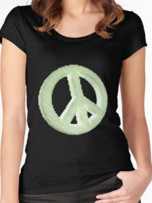 Voxelated Peace Women's Fitted Scoop T-Shirt