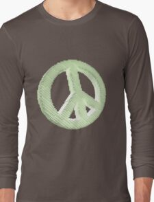 Voxelated Peace Long Sleeve T-Shirt