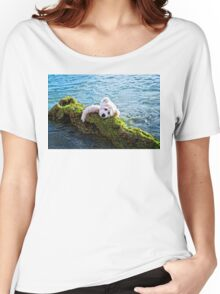 Just Hang On - Teddy Bear Art By William Patrick And Sharon Cummings Women's Relaxed Fit T-Shirt