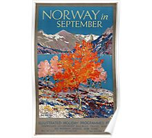 Norway in September Vintage Poster Restored Poster