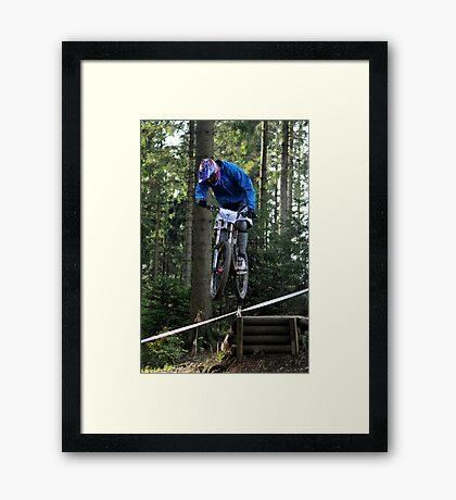 Mountain biking trials Framed Print