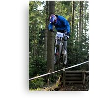 Mountain biking trials Canvas Print