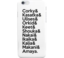SeaWorld San Diego Pod Names (Black Text) iPhone Case/Skin