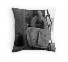 Locked Out Throw Pillow