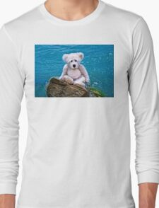 Beach Bum - Teddy Bear Art By William Patrick And Sharon Cummings Long Sleeve T-Shirt