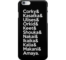 SeaWorld San Diego Pod Names (White Text) iPhone Case/Skin