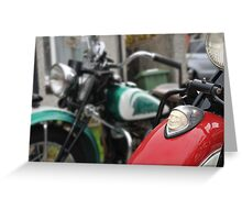 indian motorcycles chief and 741 Greeting Card