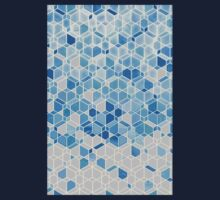 Cubes & Diamonds in Blue & Grey Kids Clothes