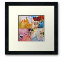 WATERCOLOUR MONTAGE  Framed Print