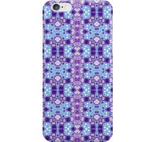 Blue, Purple and Silver Abstract Design Pattern iPhone Case/Skin