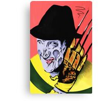 Freddy Krueger Trio - Red/Pink Background Canvas Print