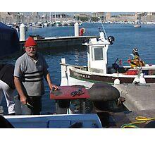 Marseille fisherman Photographic Print