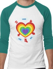 Love for All Men's Baseball ¾ T-Shirt
