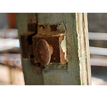 Window latch  Photographic Print