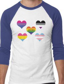 Love Wins Men's Baseball ¾ T-Shirt