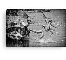 Jump to The River Canvas Print