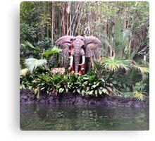 Jungle cruise elephants  Metal Print